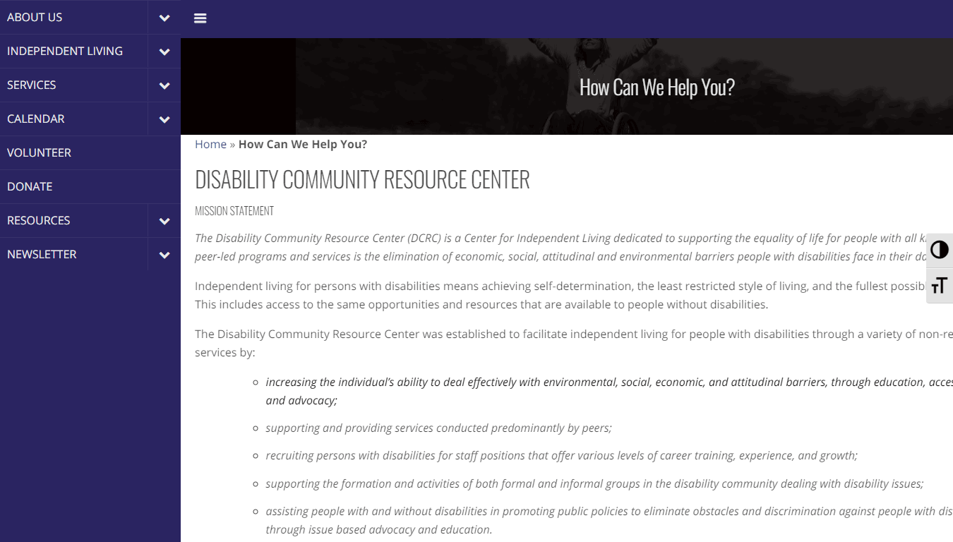 Cover art for: The Disability Community Resource Center (DCRC)