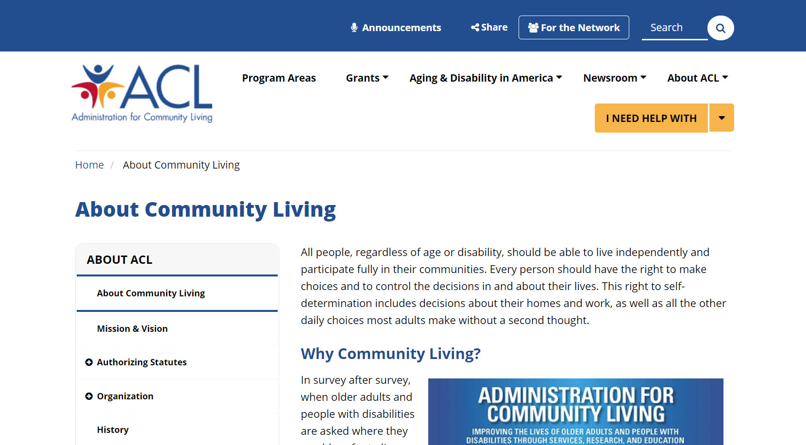 Cover art for: About Community Living