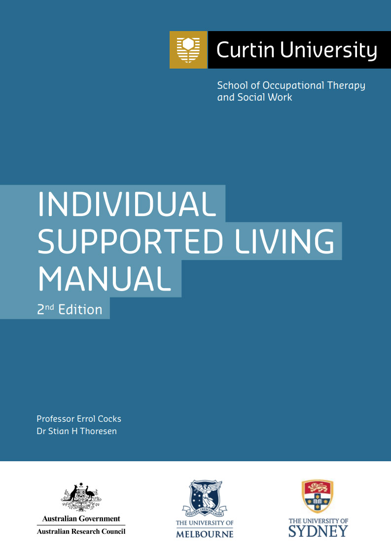 Cover art for: Curtin Individual Supported Living Manual 2nd Edition