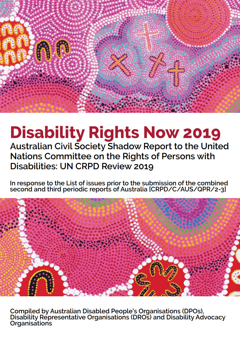 Cover art for: Disability Rights Now Shadow Report 2019