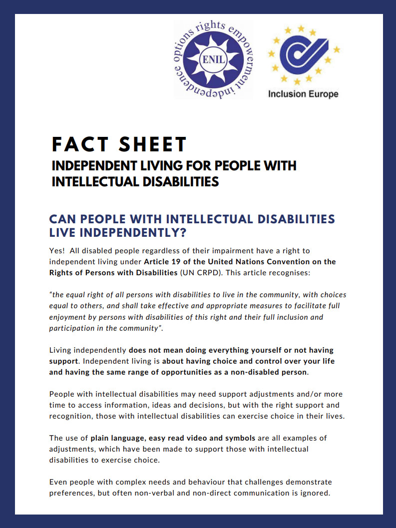Cover art for: Independent Living For People With Intellectual Disabilities