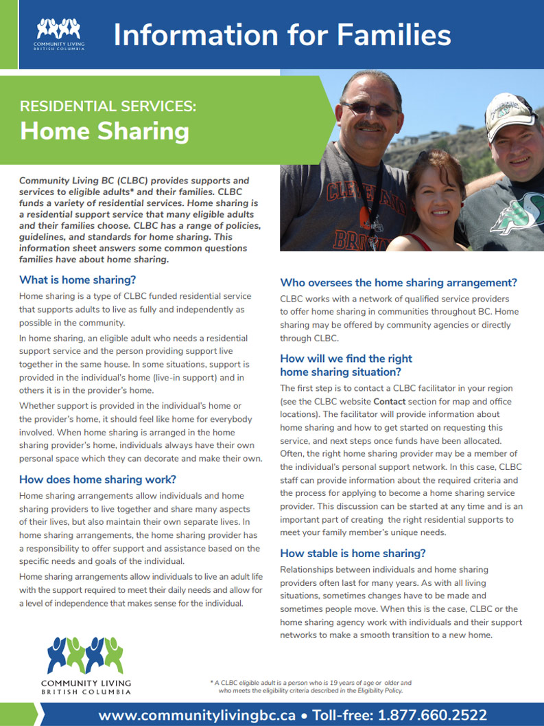 Cover art for: Home Sharing Info For Families