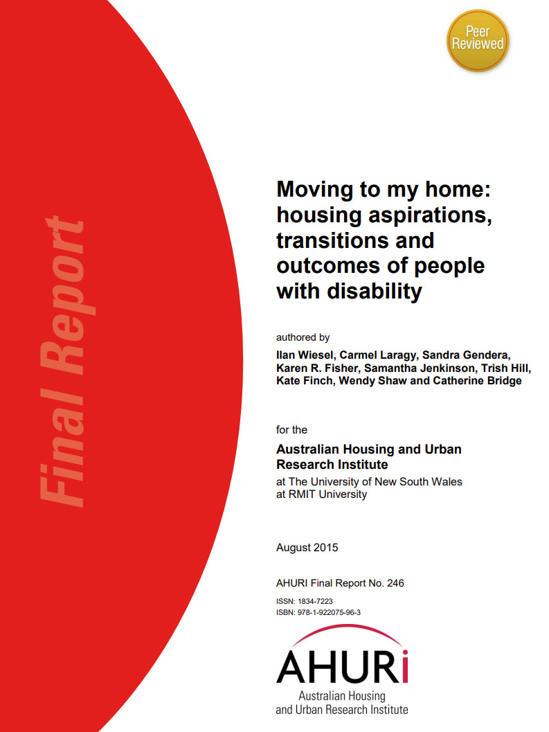 Cover art for: Moving to my home: housing aspirations, transitions and outcomes of people with disability