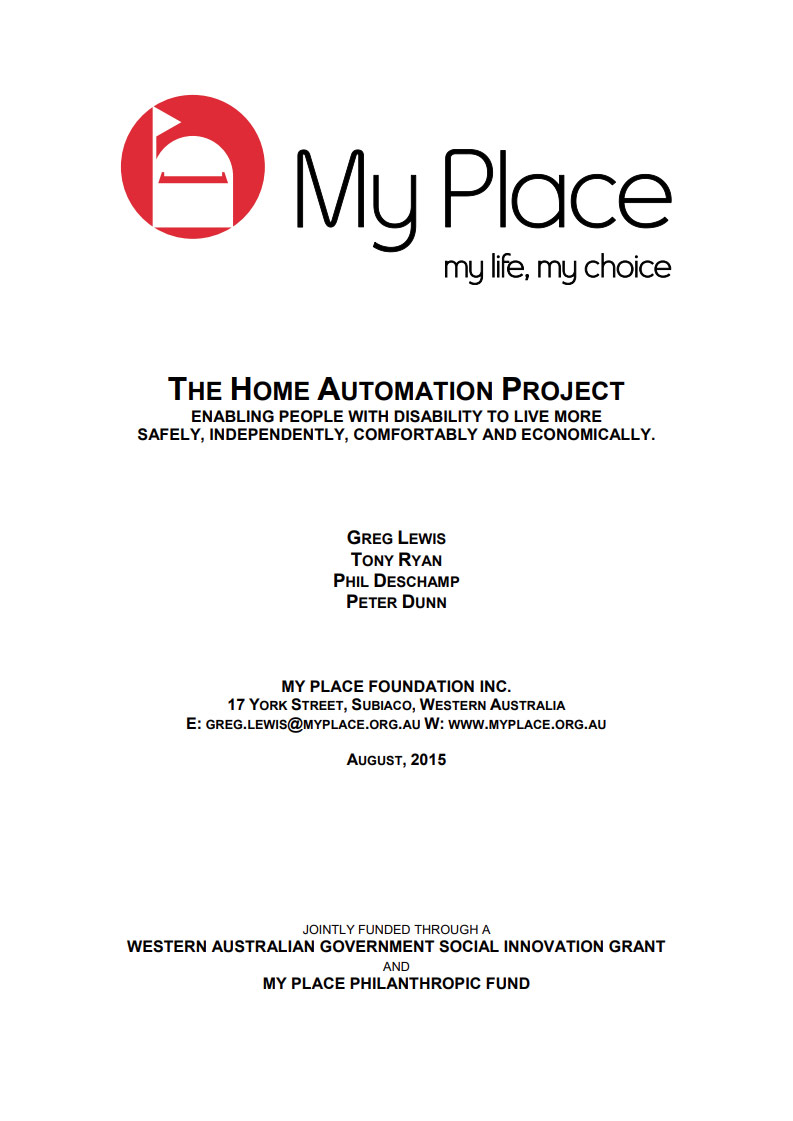 Cover art for: My Place – The Home Automation Project