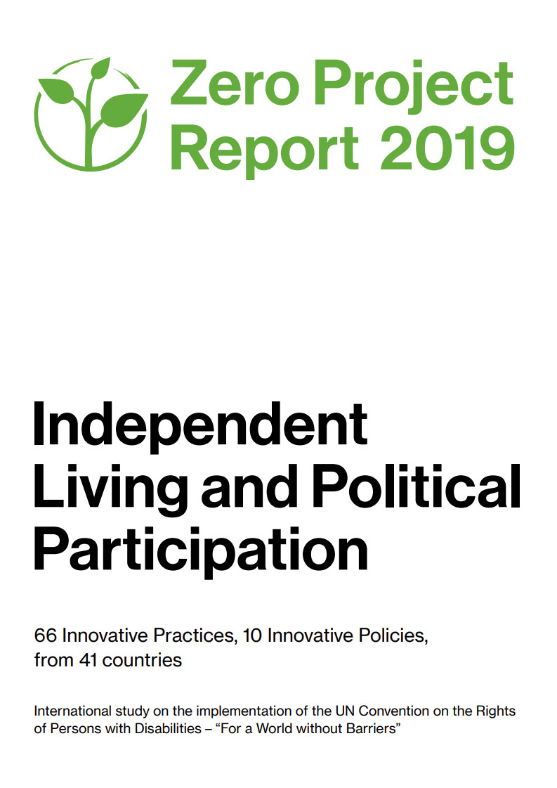Cover art for: The Zero Project Report 2019 on Independent Living and Political Participation