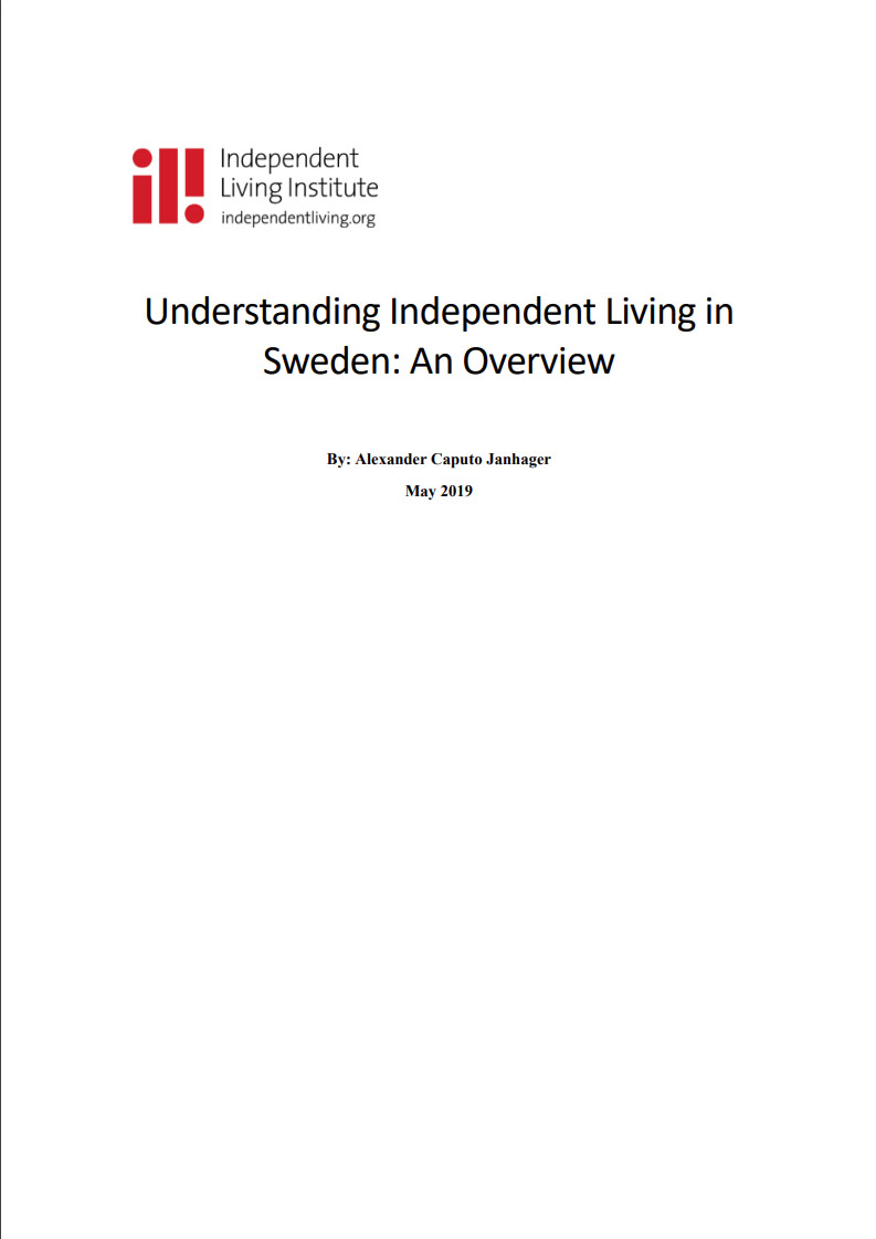 Cover art for: Understanding Independent Living In Sweden An Overview