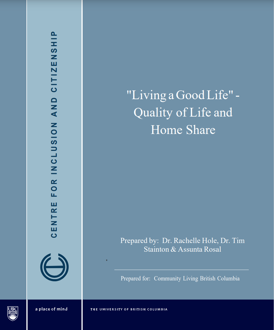 """Cover art for: """"Living A Good Life"""" Quality of Life and Homeshare"""