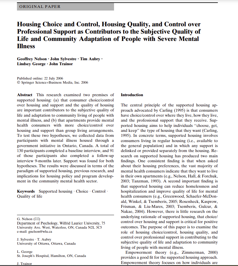 Cover art for: Housing Choice and Control