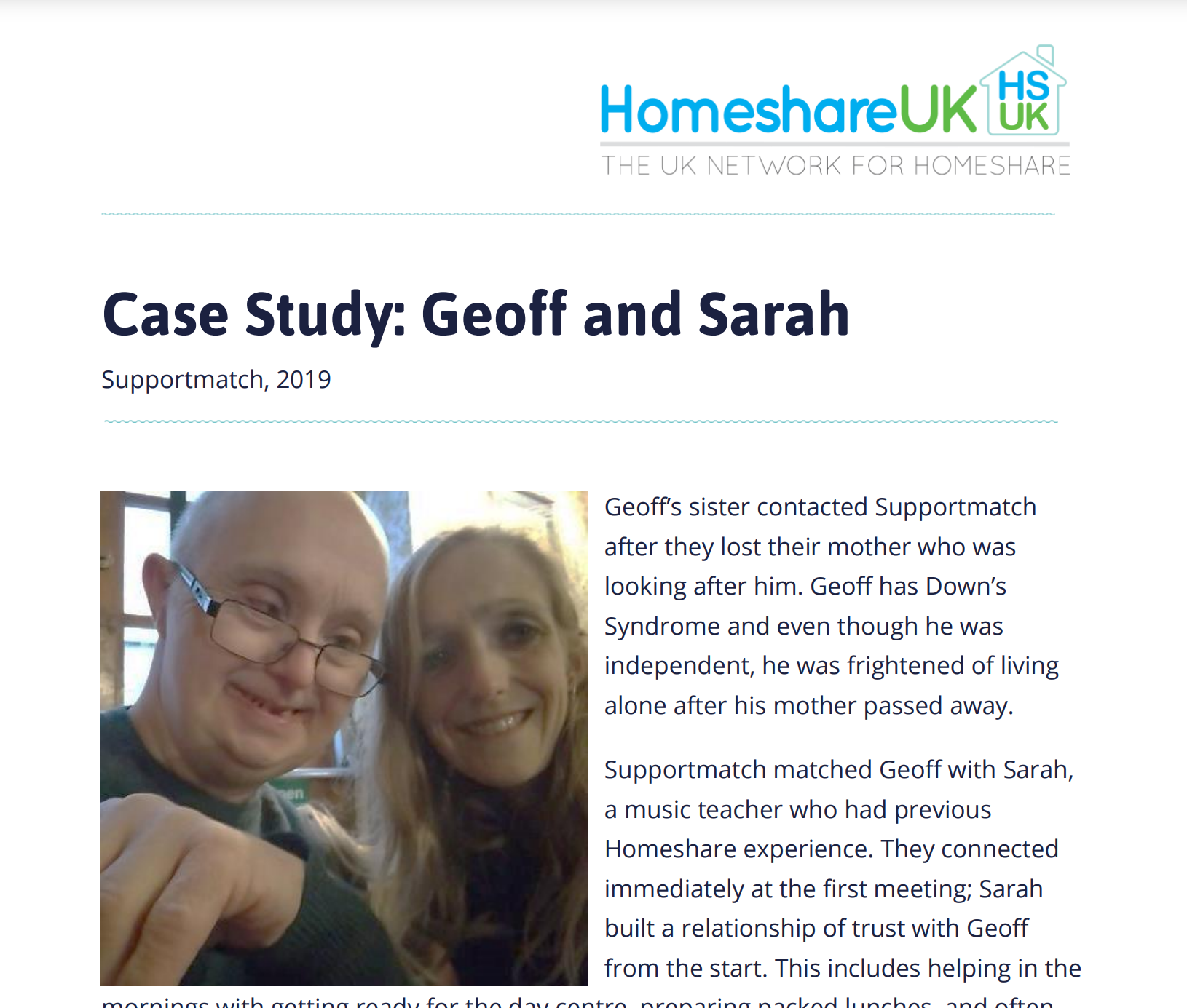 Cover art for: Geoff and Sarah