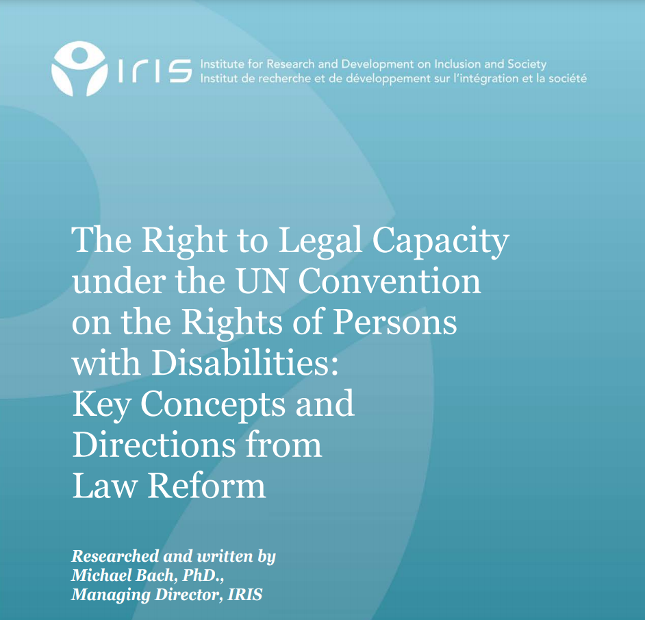 Cover art for: The Right to Legal Capacity Under the UN Convention on the Rights of Persons with Disabilities: Key Concepts